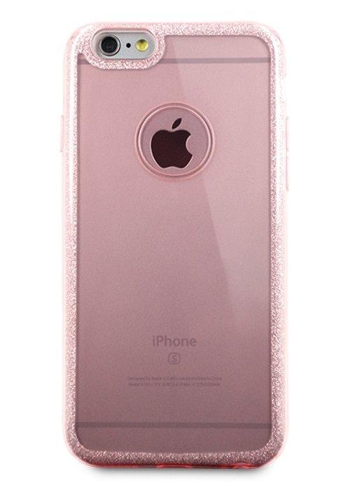 Чехол для iPhone 6/6S Sheer edge силикон (Розовый)