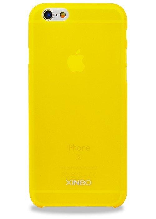 Чехол для iPhone 6/6S Xinbo Пластик Soft touch (Желтый)