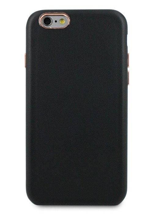Чехол для iPhone 6/6S Бомонд кожа (Черный)