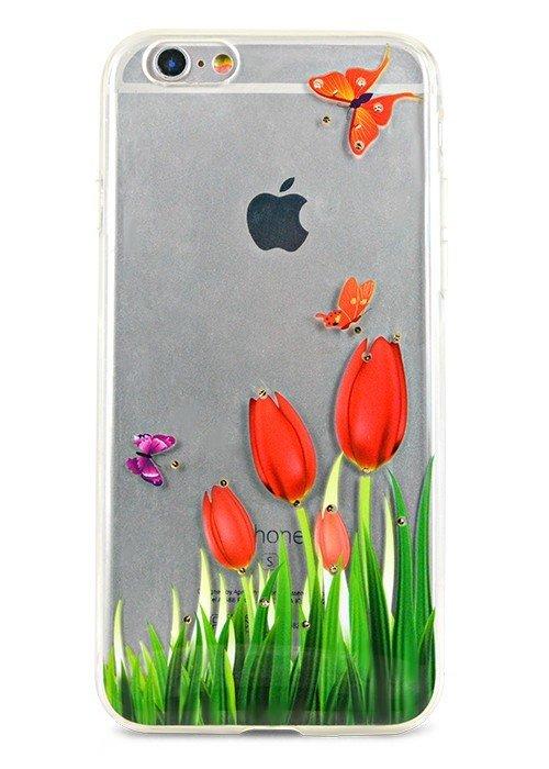 Чехол для iPhone 6/6S Весна (Тюльпаны)