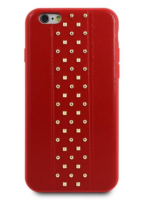 Чехол для iPhone 6/6S Кожаный Elements (Красный)