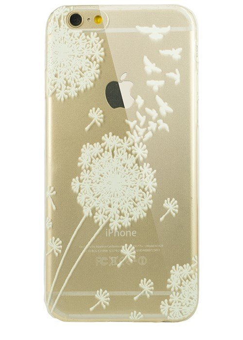 Чехол для iPhone 6/6S Силик белый рис (Одуванчик)