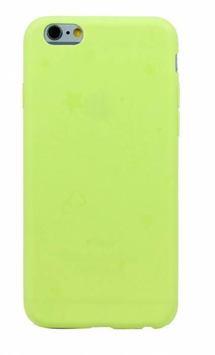 Чехол для iPhone 6/6S Силик однотонный матовый (Желтый)
