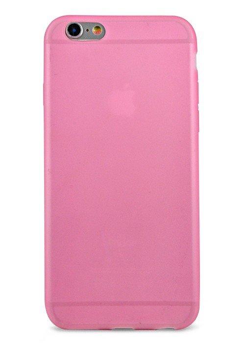 Чехол для iPhone 6/6S Силик однотонный матовый (Розовый)