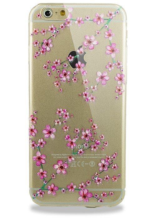 Чехол для iPhone 6/6S Силик с рисунком (протекция) (Сакура)