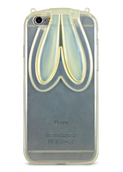 Чехол для iPhone 6/6S Силиконовый заяц (Белый)