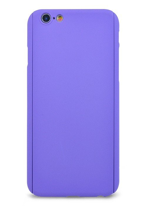 Чехол для iPhone 6/6S Чехол-стекло Soft touch (Сиреневый)