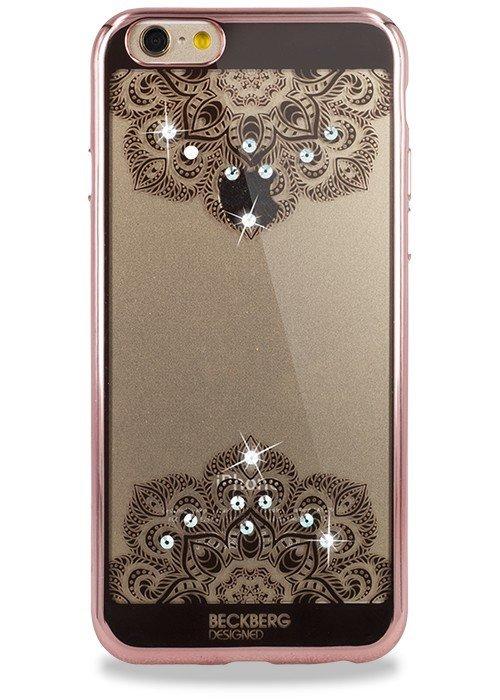 Чехол для iPhone 6+/6S+ Beckberg Мандала два цветка (Розовый)