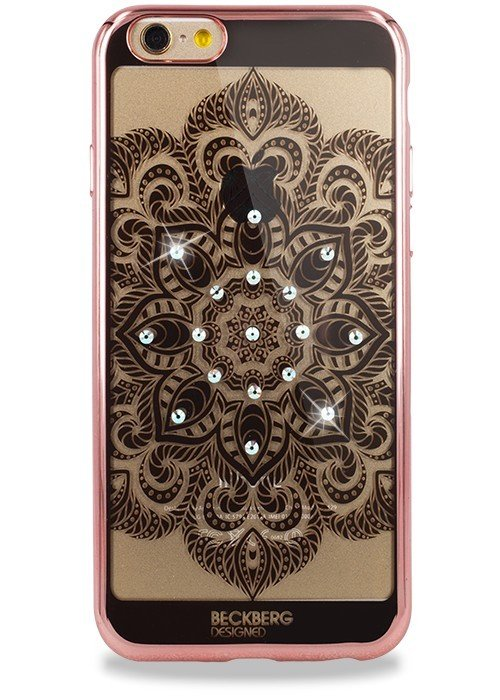 Чехол для iPhone 6+/6S+ Beckberg Мандала по центру (Розовый)