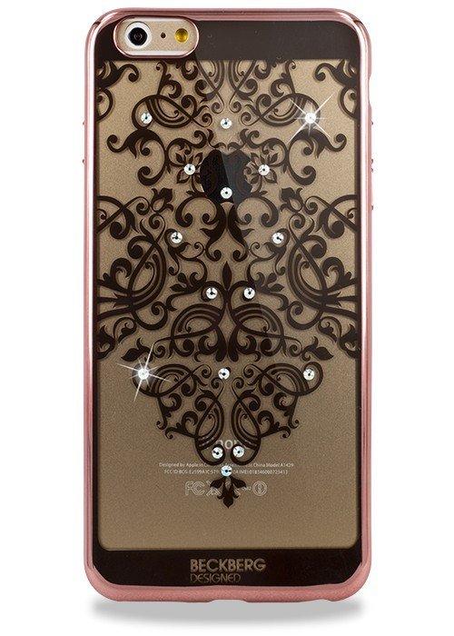 Чехол для iPhone 6+/6S+ Beckberg Мандала узор сверху (Розовый)