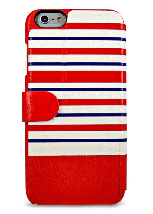 Чехол для iPhone 6+/6S+ Kajsa книжка (Красная полоска)