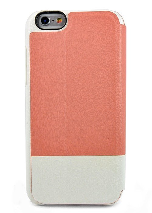 Чехол для iPhone 6+/6S+ Kajsa книжка (Розово-белая)