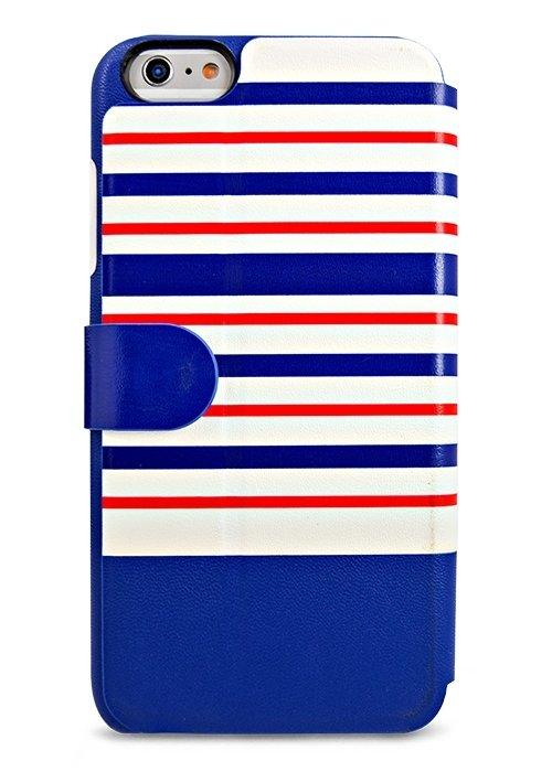 Чехол для iPhone 6+/6S+ Kajsa книжка (Синяя полоска)