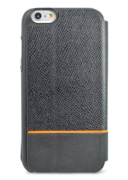 Чехол для iPhone 6+/6S+ Kajsa книжка (Черная кожа)