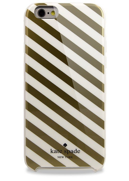 Чехол для iPhone 6+/6S+ Kate Spade (Золотая полоска)