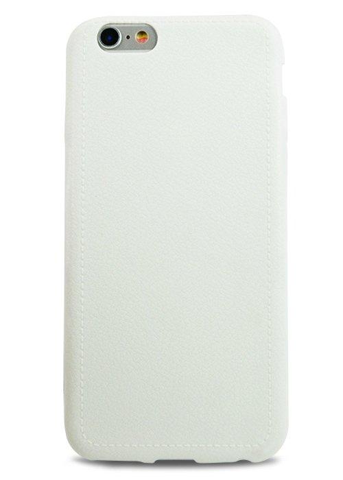 Чехол для iPhone 6+/6S+ Leather style (Белый)