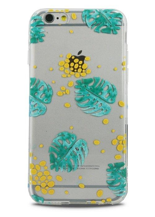 Чехол для iPhone 6+/6S+ Lovely силикон (Tropical leaves)