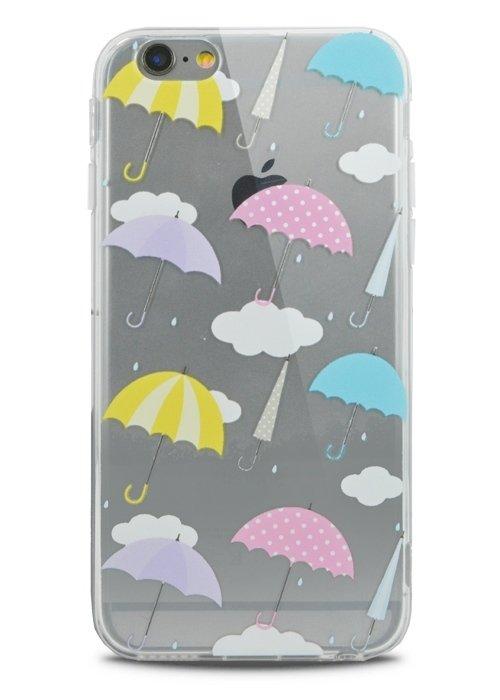 Чехол для iPhone 6+/6S+ Lovely силикон (Зонты)