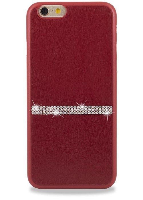 Чехол для iPhone 6+/6S+ Memumi Полоска Страз накладка (Красный)