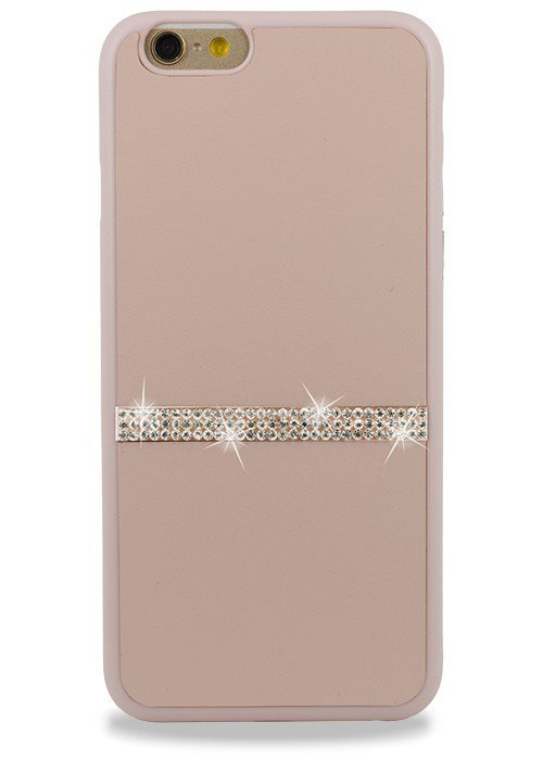 Чехол для iPhone 6+/6S+ Memumi Полоска Страз накладка (Розовый)