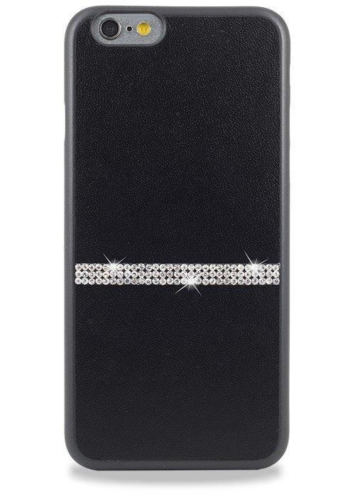 Чехол для iPhone 6+/6S+ Memumi Полоска Страз накладка (Черный)