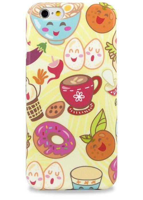 Чехол для iPhone 6+/6S+ Pastila (Пончик и фрукты)