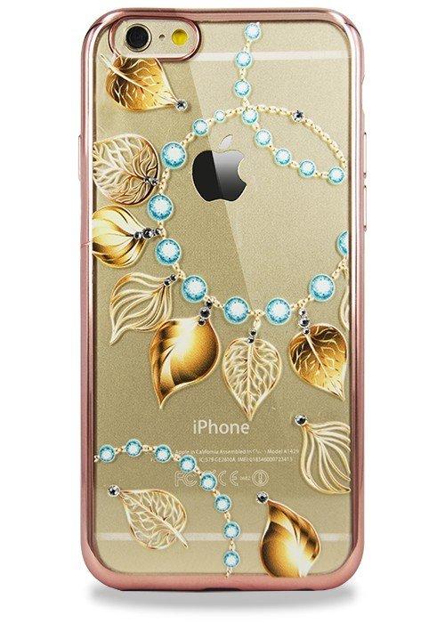 Чехол для iPhone 6+/6S+ PGS Swarovski (Ожерелье с лепестками Розовый)