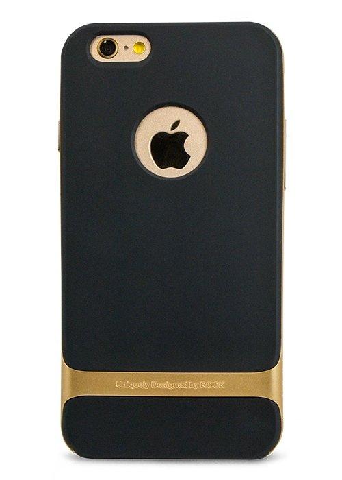 Чехол для iPhone 6+/6S+ Rock Royce PC + силикон (Золото)