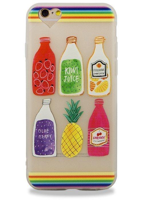 Чехол для iPhone 6+/6S+ Stickers (Juice)