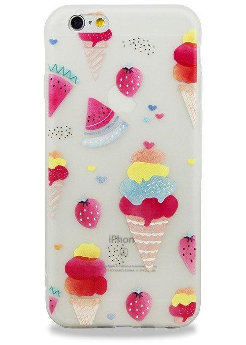 Чехол для iPhone 6+/6S+ Stickers (Арбуз и мороженное)