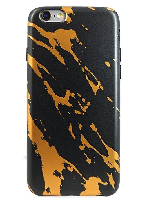 Чехол для iPhone 6+/6S+ Stone Lux силикон (Гранит Золотой)