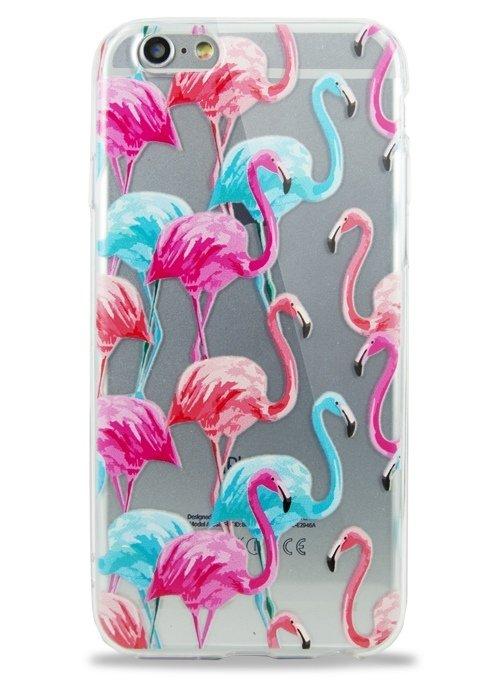 Чехол для iPhone 6+/6S+ Tropic (Разноцветные фламинго)