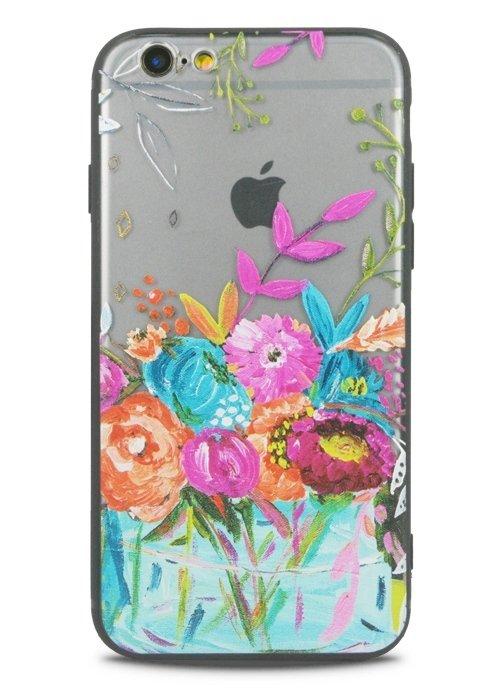 Чехол для iPhone 6+/6S+ Watercolour (Букет)