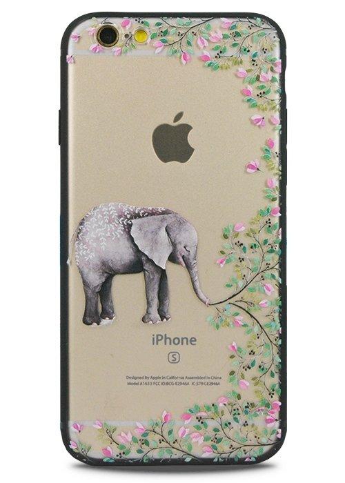 Чехол для iPhone 6+/6S+ Watercolour (Слон)
