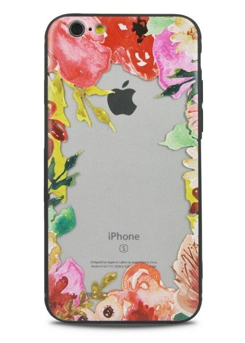 Чехол для iPhone 6+/6S+ Watercolour (Цветочная рамка)