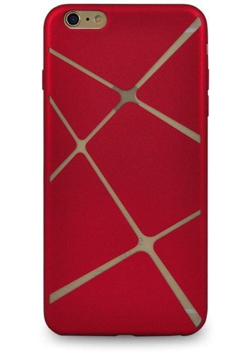 Чехол для iPhone 6+/6S+ Абстракция (Красная трапеция)
