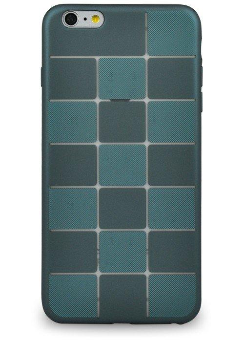 Чехол для iPhone 6+/6S+ Абстракция (Синяя плитка)