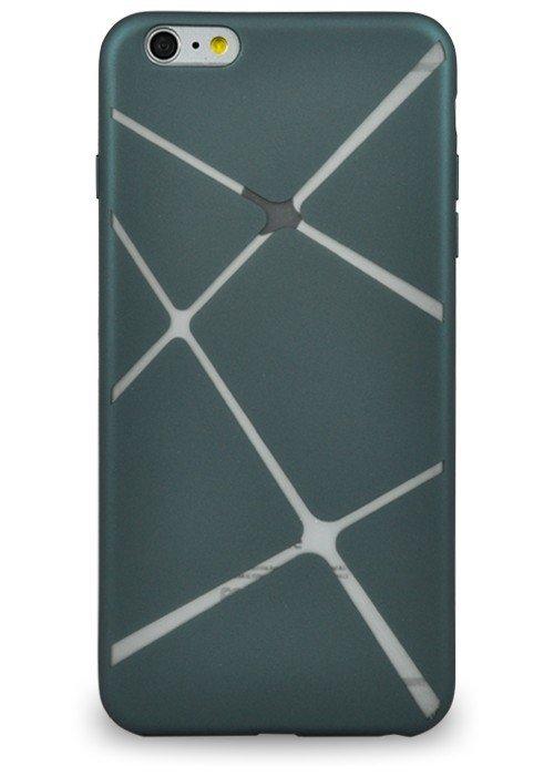 Чехол для iPhone 6+/6S+ Абстракция (Синяя трапеция)