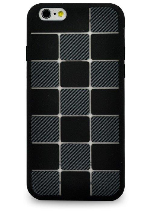 Чехол для iPhone 6+/6S+ Абстракция (Черная плитка)