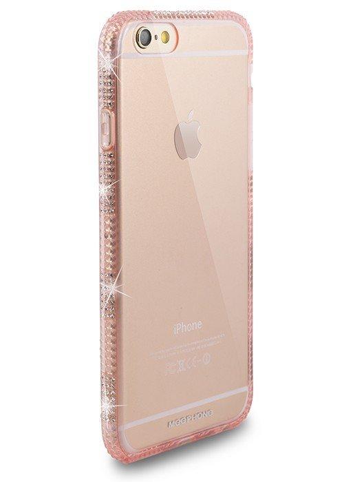 Чехол для iPhone 6+/6S+ Билайн Стразы на боках (Розовый)