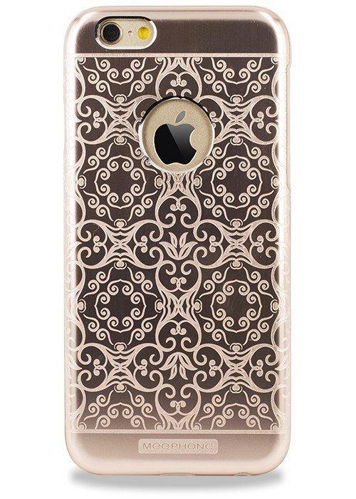 Чехол для iPhone 6+/6S+ Билайн узор (Завитушка Розовый)