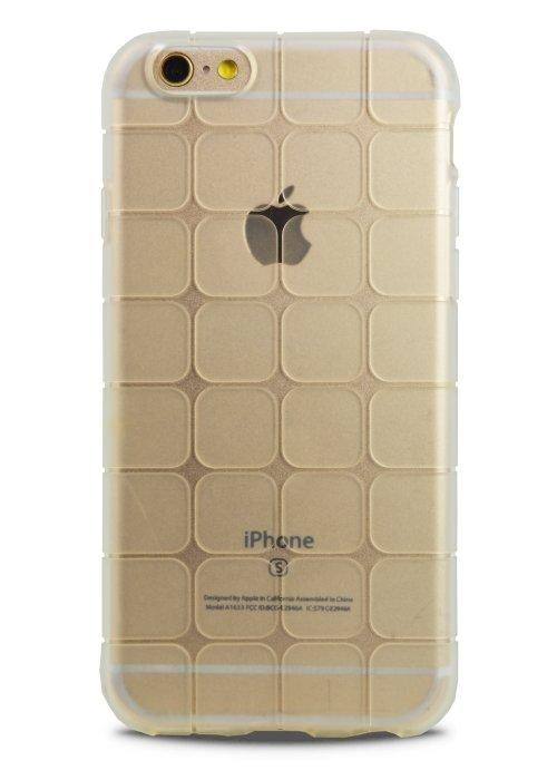 Чехол для iPhone 6+/6S+ Кафель (силикон) (Белый)