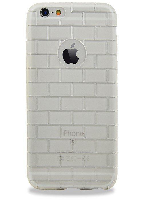 Чехол для iPhone 6+/6S+ Кирпичи (силикон) (Белый)