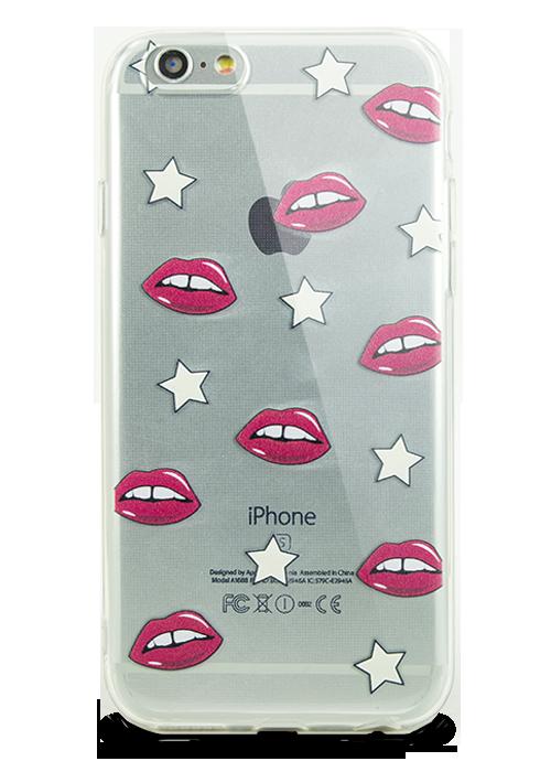 Чехол для iPhone 6+/6S+ Молодость (Lips and stars)