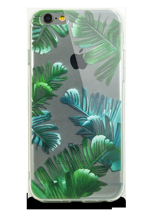 Чехол для iPhone 6+/6S+ Молодость (Пальмовые листья)