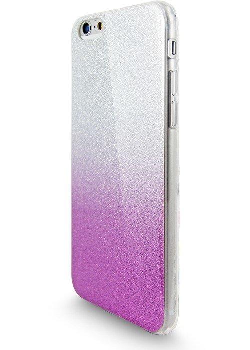 Чехол для iPhone 6+/6S+ Омбре с блестками (Сиреневый)