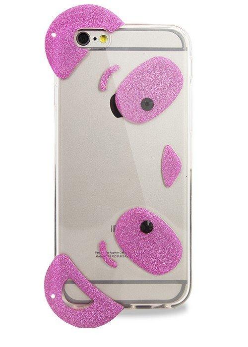 Чехол для iPhone 6+/6S+ Панда (Розовый)