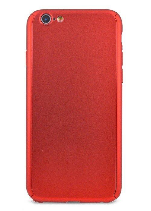 Чехол для iPhone 6+/6S+ Чехол-стекло Soft touch (Красный)