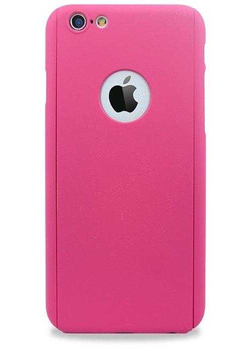 Чехол для iPhone 6+/6S+ Чехол-стекло Soft touch (Малиновый)