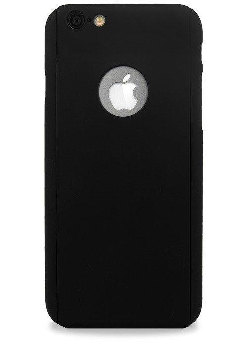 Чехол для iPhone 6+/6S+ Чехол-стекло Soft touch (Черный)